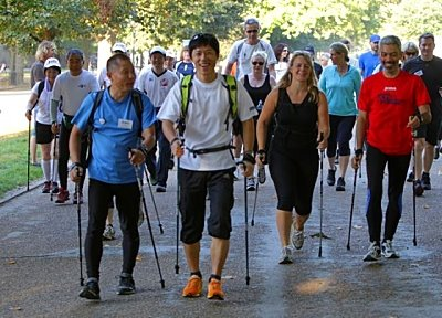 Nordic Walking in Hyde Park, London_opt