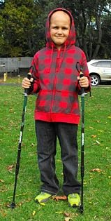 Rory with Nordic Walking Poles_opt resize 2